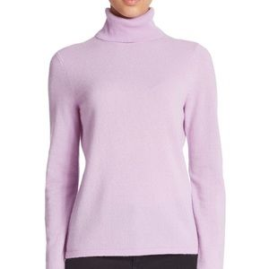 Lord & Taylor - Cashmere Lilac Turtleneck Sweater